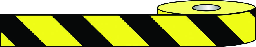 black and yellow hazard barrier tape
