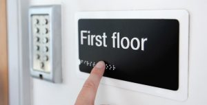 Braille floor signs
