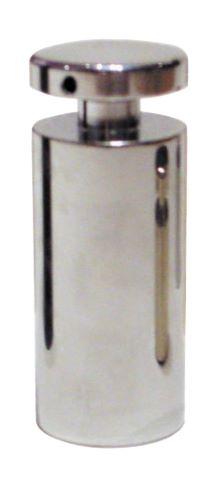00411 Panel support locator in satin chrome finish 12mm diameter, 20mm barrel