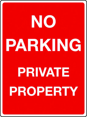No parking, private property sign