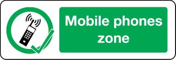 03412 Mobile phone zone sign