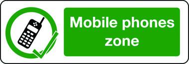 information mobile phone zone sign stocksigns. Black Bedroom Furniture Sets. Home Design Ideas