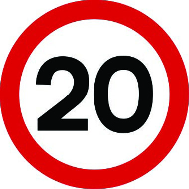 20mph speed limit traffic sign