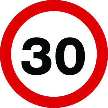 30mph speed limit traffic sign
