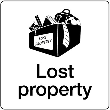 schools lost property sign stocksigns