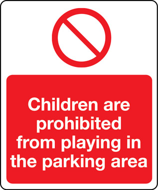 05197 - children are prohibited from playing in the parking area