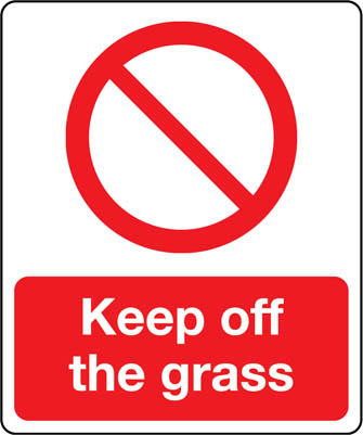 05199 Keep off the Grass