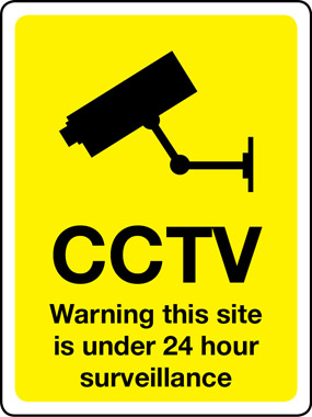 Security Cctv Warning This Site Is Under 24 Hour