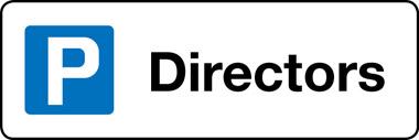Directors cap park sign