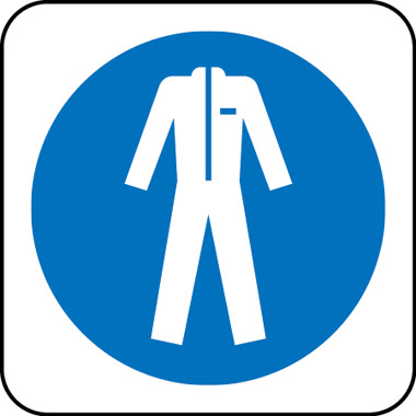 Safety clothing symbol sign