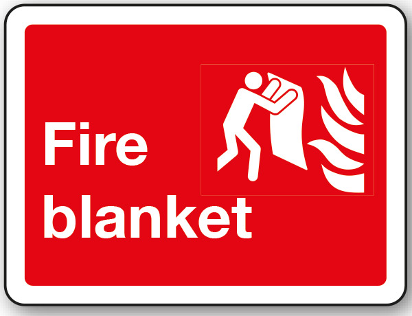 Fire Safety Fire Blanket Text Symbol Sign Stocksigns