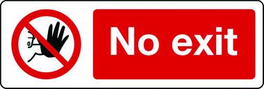 1088 No Exit Sign