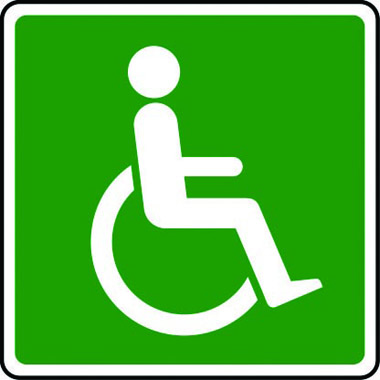 Disabled refuge point symbol sign