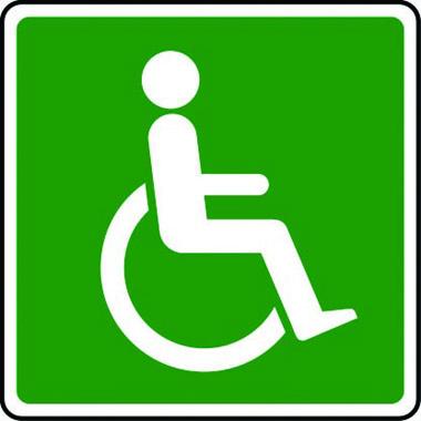 Disabled refuge point symbol sign