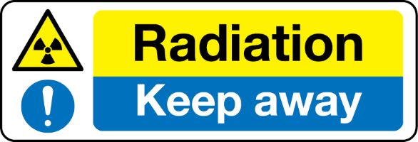 1231 Radiation Keep away sign