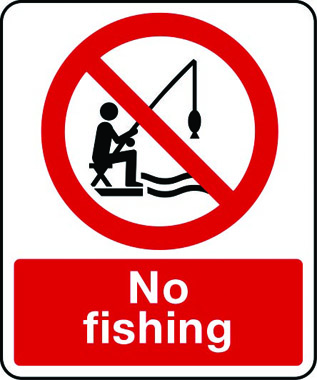 All The Car Signs >> No Fishing sign | Stocksigns