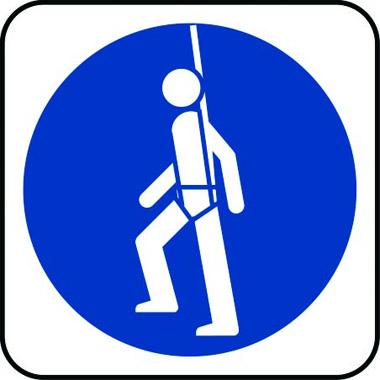Mandatory Safety Harness Symbol Sign Stocksigns