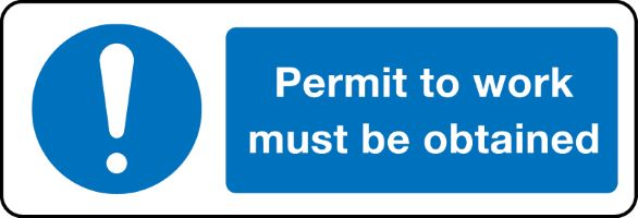 1417 Permit to work from Stocksigns health and safety