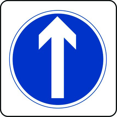 Arrow ahead traffic sign