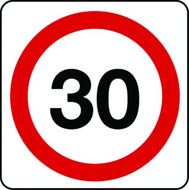 30mph speed limit sign