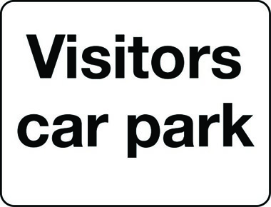 Visitors car park sign