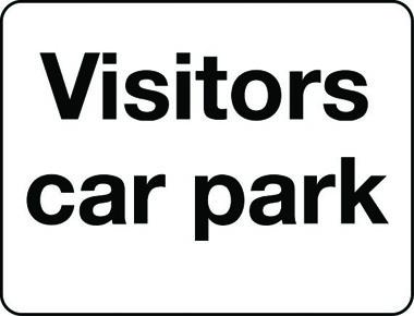 Visitors car park sign