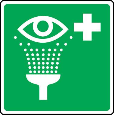 First Aid Emergency Eye Wash Symbol Sign Stocksigns