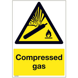 Compressed Gas 1700 MR Stocksigns Safety Sign