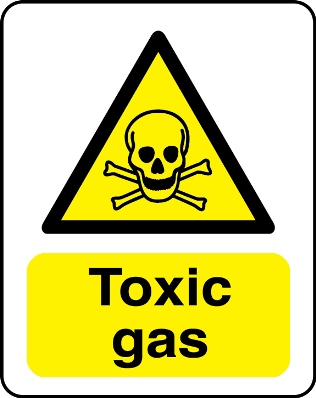 Toxic Gas Hazard Warning Sign