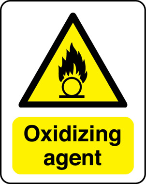Oxidizing agent warning sign