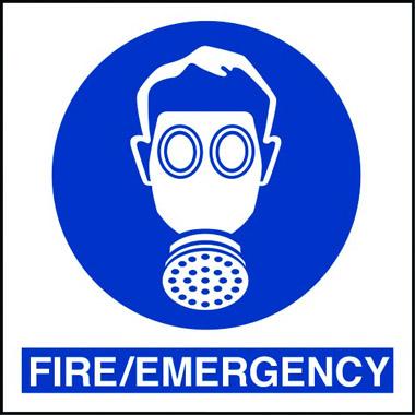 Hazardmod Fire Emergency Respirator Sign Stocksigns
