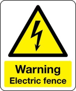 1861 - Warning Electric Fence