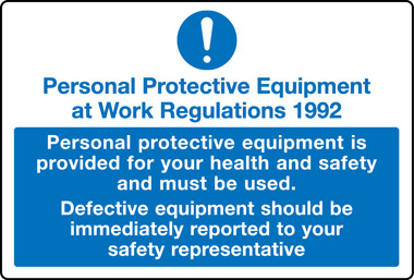 Personal protective equipment at work regulations 1992 PPE ...