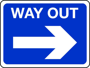 Image result for way out sign