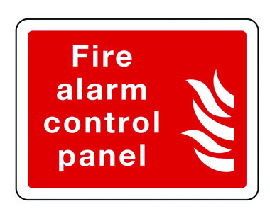 Fire Alarm Control Panel Text Symbol Sign Stocksigns