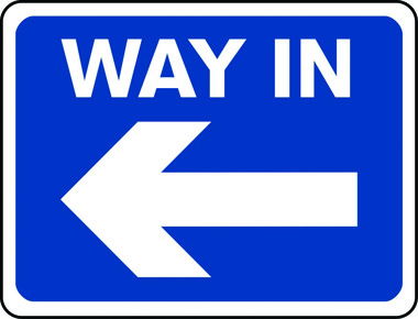 Way in arrow left sign