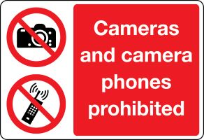 3409 Camera Prohibited sign