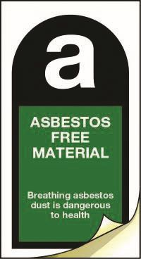 3505 Asbestos free material labels 25mm x 50mm