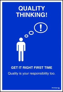 Posters get it right first time poster iso7010 symbol for First time home building guide