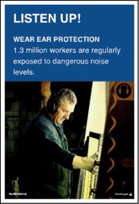 3560 Wear ear protection poster