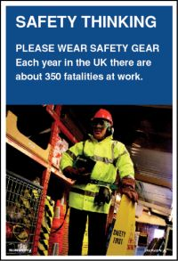 3567 Please wear safety gear poster