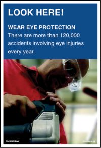 3568 Wear eye protection poster