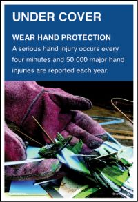 3569 Wear hand protection poster