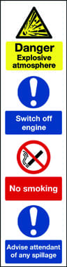 Combination message safety sign for garage forecourts 4