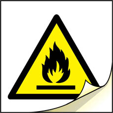 4004 or 4005 Flammable Hazard Label