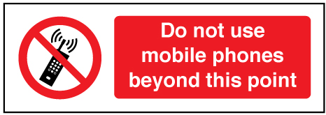 5218 do not use mobile phones beyond this point