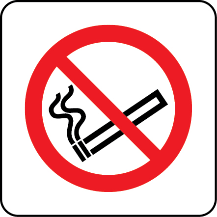 No smoking photoluminescent sign