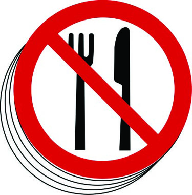 food symbol drink prohibition dia pack 100mm 50mm stocksigns marking labels excludes vat