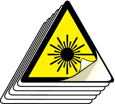 Hazard Laser Symbol Labels 50mm High Pack Of 12 Stocksigns