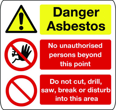 construction asbestos signs danger asbestos sign 1 stocksigns. Black Bedroom Furniture Sets. Home Design Ideas